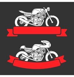 Motorcycle logo set vector image