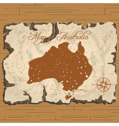 old parchament Map of Australia vector image vector image