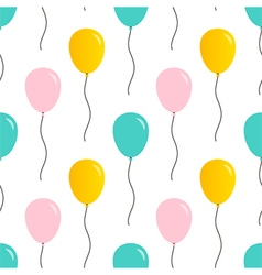Cute balloons seamless pattern background vector image vector image