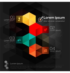 Geometric Shape Abstract Design Layout vector image vector image