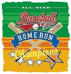 homerun baseball champ vector image vector image
