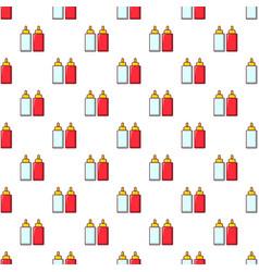 mustard ketchup bottle pattern seamless vector image