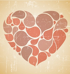 red abstract retro heart vector image vector image