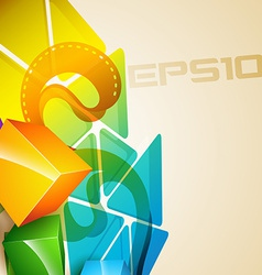 3d style background vector image