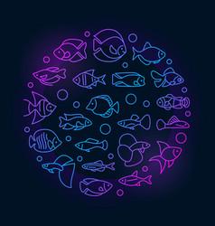 Aquarium fish colorful vector