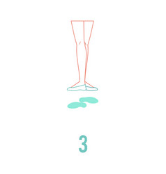 ballerina feet in pointe vector image