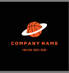 basketball planet for sport store club team logo vector image