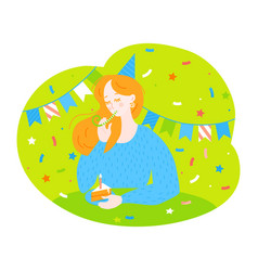 Birthday greeting card and poster vector