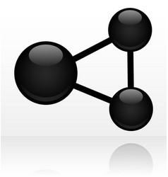 black social share or molecule symbol vector image