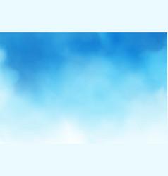 Blue sky gradient watercolor background vector