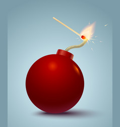 bomb and match vector image