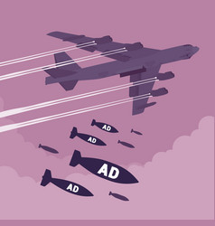 bomber and ad bombing vector image