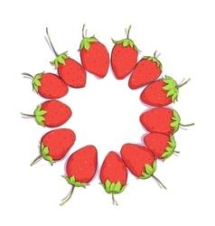 Bright strawberries background vector