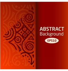 Brown abstract African background pattern vector