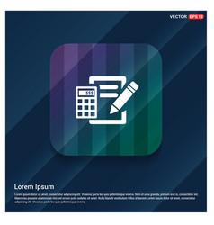 Calculation icon vector