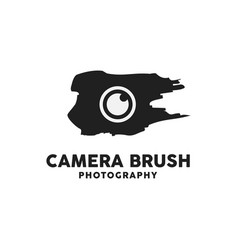 camera brush logo design inspiration vector image