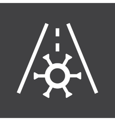 Car frost icon vector image