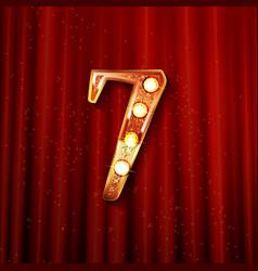 Celebrating 7 years anniversary vector