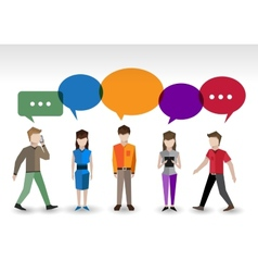 Chat people concept vector image