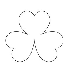 Clover the black color icon vector