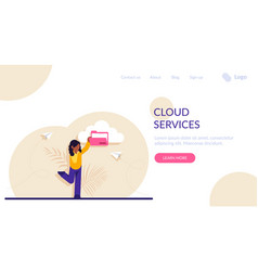 Concept cloud service for internet storage of vector