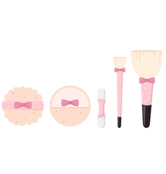 Cosmetics bush vector