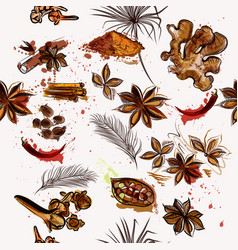 creative background with anise stars pepper vector image