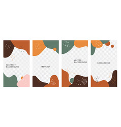 Creative collage templates with leaves for media vector