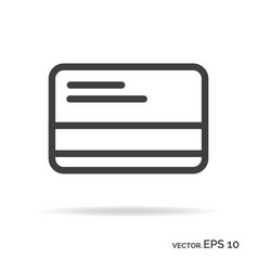 Credit card outline icon black color vector