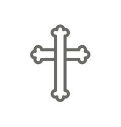 Cross symbol icon spiritual concept vector