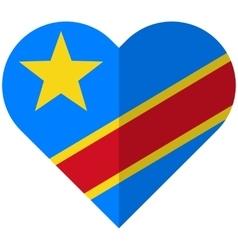 Democratic republic congo flat heart flag vector