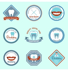 Dental emblems set vector