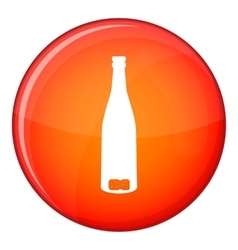 Empty wine bottle icon flat style vector image