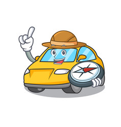 Explorer taxi character mascot style vector