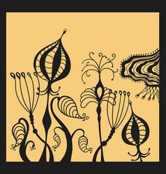 Fantastic beautiful flowers vector