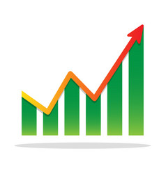 Financial growth infographic chart icon vector