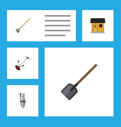 Flat icon dacha set of pump stabling shovel and vector