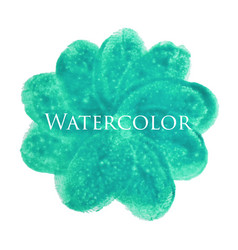 Flower watercolor hand drawn texture isolated vector