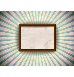 Frame on the grungy rays background vector image