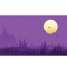 Full moon at Halloween bat vector image