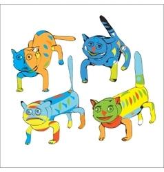 Funny Drawn Cats vector
