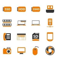 Gadget icon set vector image