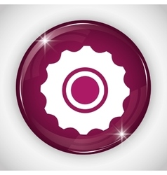 Gear button icon Social media design vector