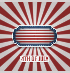 happy 4th of july text on greeting background vector image