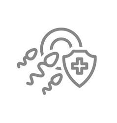 healthy protected fertilization line icon vector image