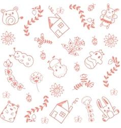 Home sweet doodle art vector
