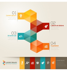 Isometric Shape Design Layout vector image
