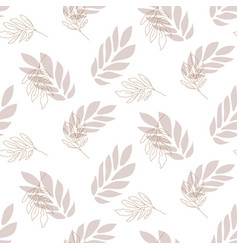 lavender leaf seamless pattern background vector image