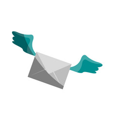 letter flat shadow vector image