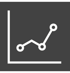 Lined graph vector image